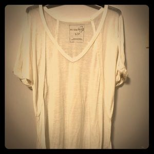 Free People white t- shirt